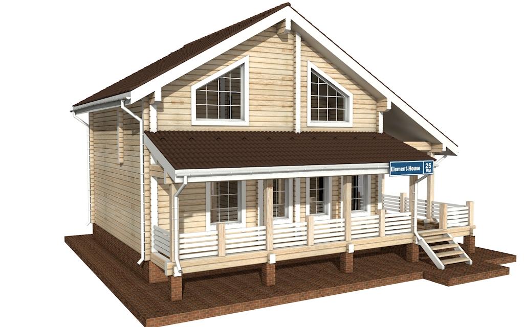Фото #4: деревянный дом ПДБ-25 из клееного бруса купить за 9255000 (цена «Под ключ»)