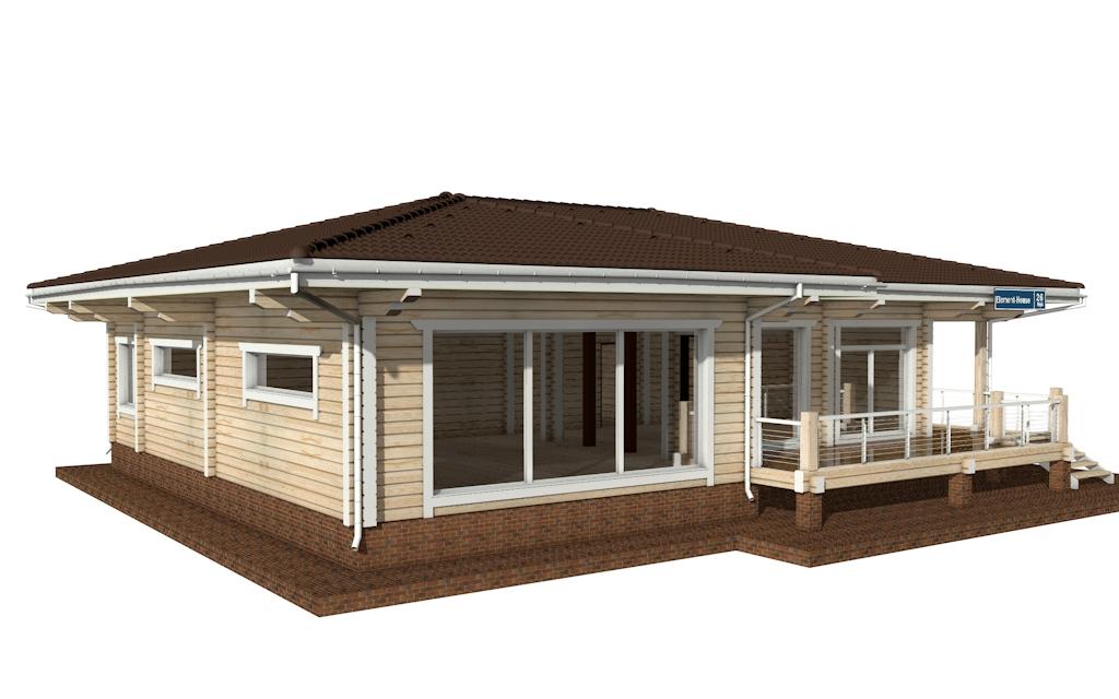 Фото #3: деревянный дом ПДБ-26 из клееного бруса купить за 10000000 (цена «Под ключ»)