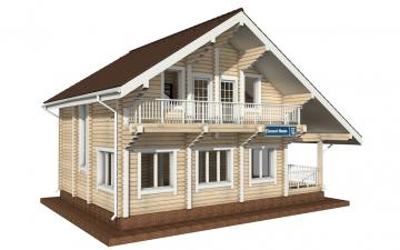 Фото #5: деревянный дом ПДБ-27 из клееного бруса купить за 8343000 (цена «Под ключ»)