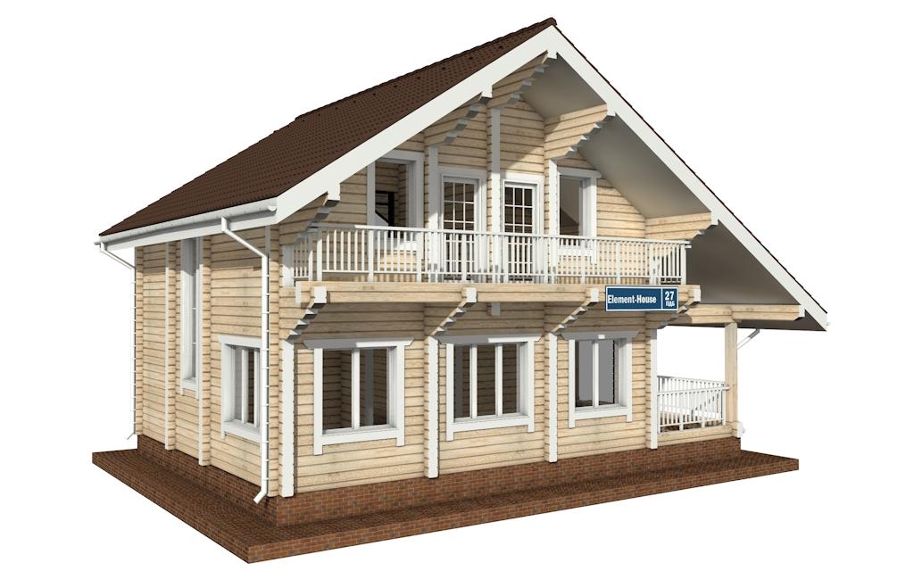 Фото #4: деревянный дом ПДБ-27 из клееного бруса купить за 8343000 (цена «Под ключ»)