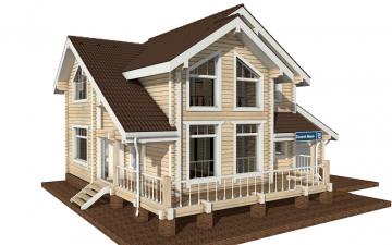 Фото #2: деревянный дом ПДБ-28 из клееного бруса купить за 10822000 (цена «Под ключ»)