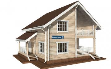 Фото #2: деревянный дом ПДБ-3 из клееного бруса купить за 9321000 (цена «Под ключ»)