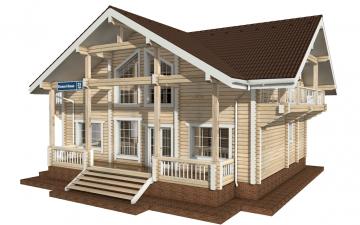 Фото #2: деревянный дом ПДБ-29 из клееного бруса купить за 12475000 (цена «Под ключ»)