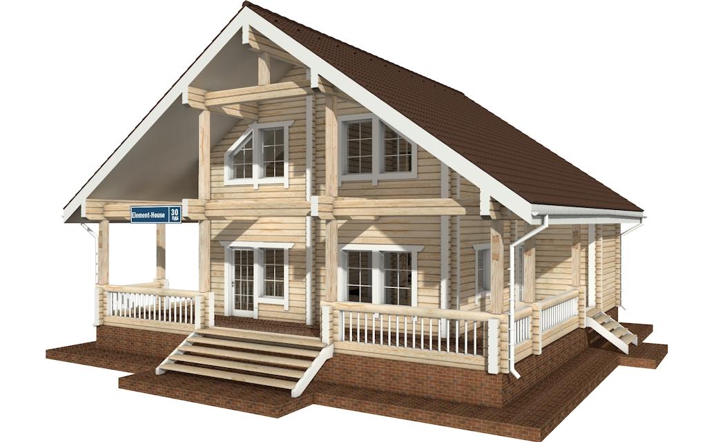 Фото #4: деревянный дом ПДБ-30 из клееного бруса купить за 10828000 (цена «Под ключ»)