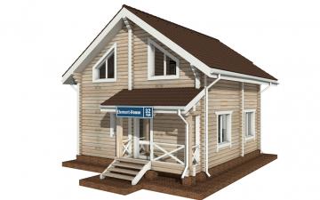 Фото #2: деревянный дом ПДБ-32 из клееного бруса купить за 6195000 (цена «Под ключ»)