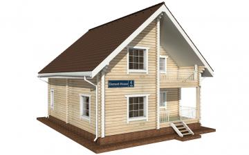 Фото #1: деревянный дом ПДБ-4 из клееного бруса купить за 10471000 (цена «Под ключ»)