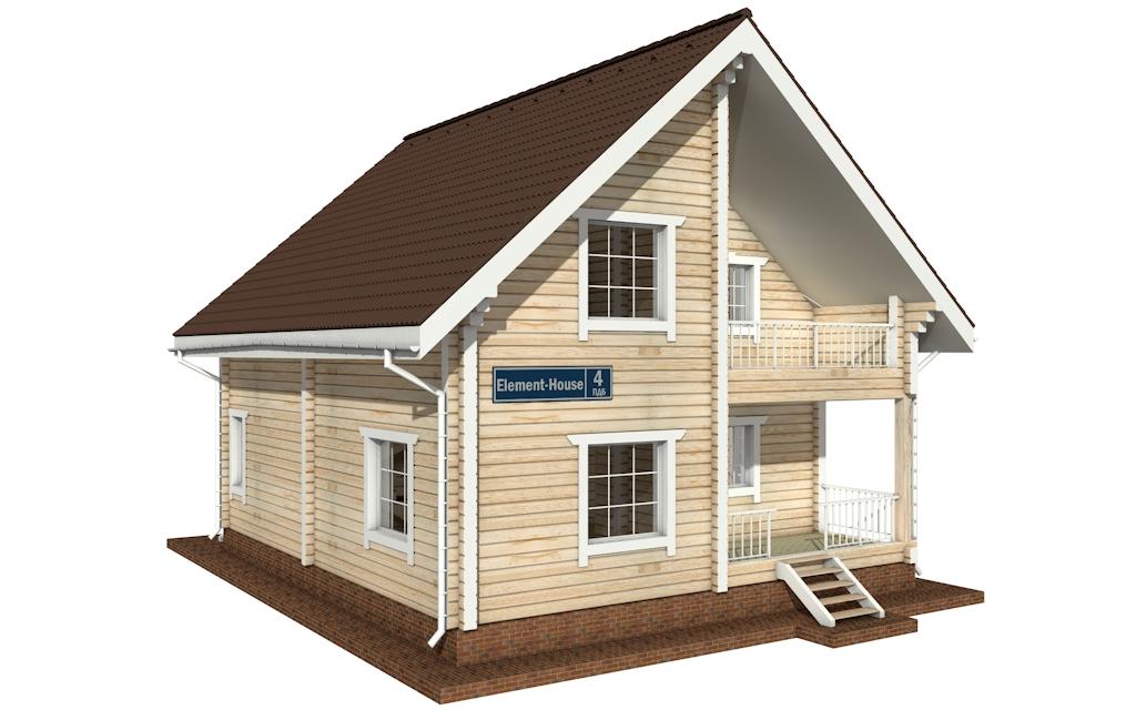 ПДБ-4 - деревянный дом из клееного бруса
