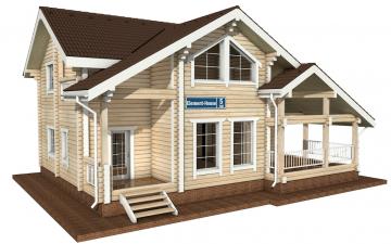 Фото #1: деревянный дом ПДБ-5 из клееного бруса купить за 11075000 (цена «Под ключ»)