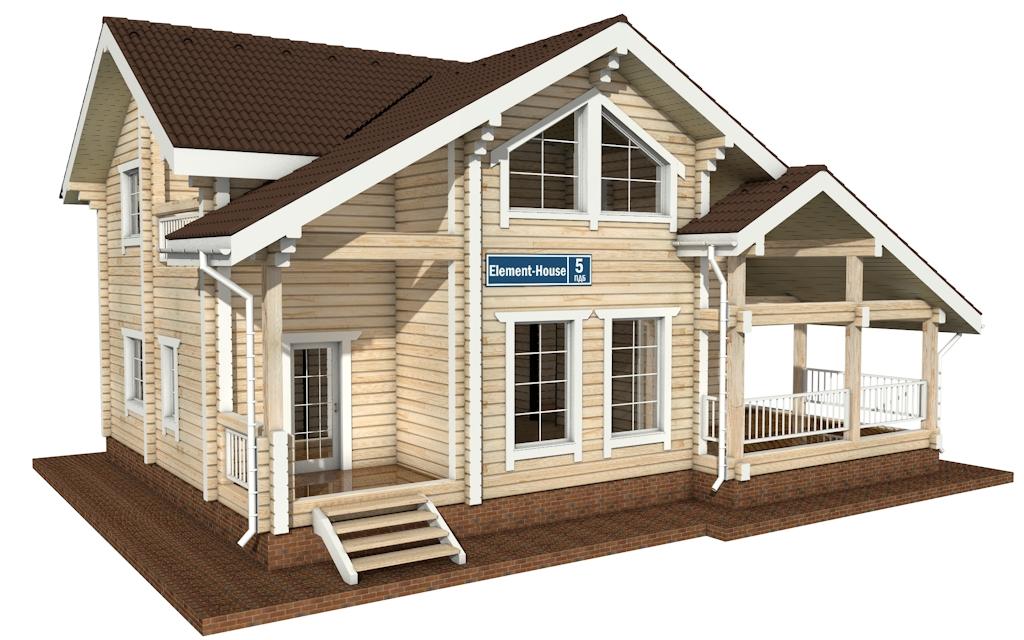 ПДБ-5 - деревянный дом из клееного бруса