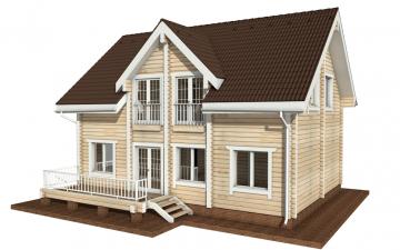 Фото #6: деревянный дом ПДБ-7 из клееного бруса купить за 10436000 (цена «Под ключ»)