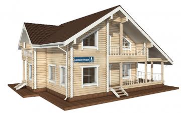 Фото #2: деревянный дом ПДБ-8 из клееного бруса купить за 11035000 (цена «Под ключ»)