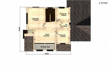 Фото #5: деревянный дом ПДБ-28 из клееного бруса купить за 10822000 (цена «Под ключ»)
