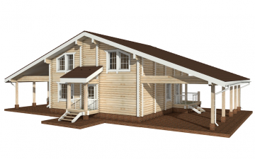 Фото #6: деревянный дом ПДБ-10 из клееного бруса купить за 10753000 (цена «Под ключ»)