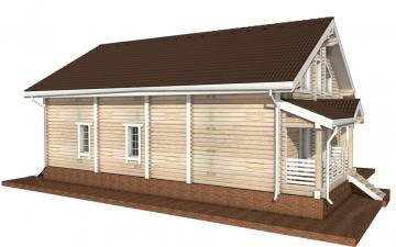 Фото #3: деревянный дом ПДБ-11 из клееного бруса купить за 11765000 (цена «Под ключ»)