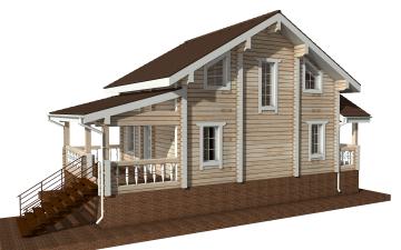 Фото #6: деревянный дом ПДБ-12 из клееного бруса купить за 6294000 (цена «Под ключ»)