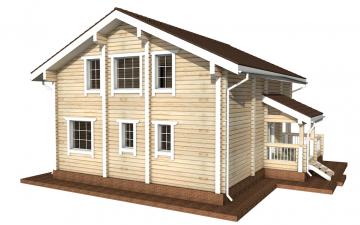 Фото #3: деревянный дом ПДБ-13 из клееного бруса купить за 8773000 (цена «Под ключ»)
