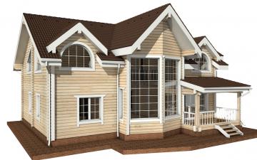 Фото #3: деревянный дом ПДБ-14 из клееного бруса купить за 13633000 (цена «Под ключ»)