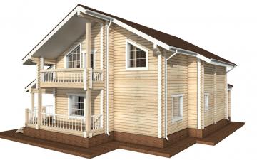 Фото #2: деревянный дом ПДБ-16 из клееного бруса купить за 12169000 (цена «Под ключ»)