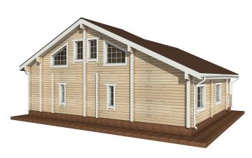 Фото #3: деревянный дом ПДБ-19 из клееного бруса купить за 11807000 (цена «Под ключ»)