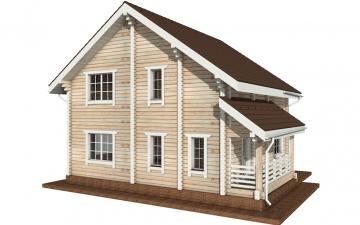 Фото #3: деревянный дом ПДБ-3 из клееного бруса купить за 9321000 (цена «Под ключ»)