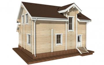 Фото #6: деревянный дом ПДБ-21 из клееного бруса купить за 9469000 (цена «Под ключ»)