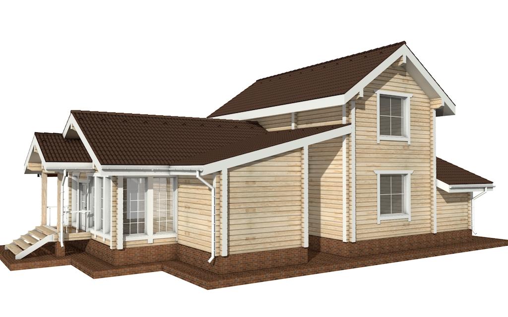 Фото #5: деревянный дом ПДБ-22 из клееного бруса купить за 11225000 (цена «Под ключ»)