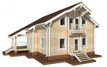 Фото #6: деревянный дом ПДБ-23 из клееного бруса купить за 11107000 (цена «Под ключ»)
