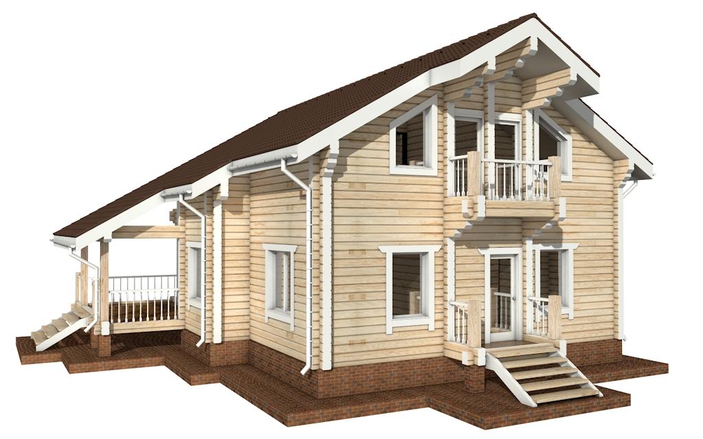 Фото #5: деревянный дом ПДБ-23 из клееного бруса купить за 11107000 (цена «Под ключ»)