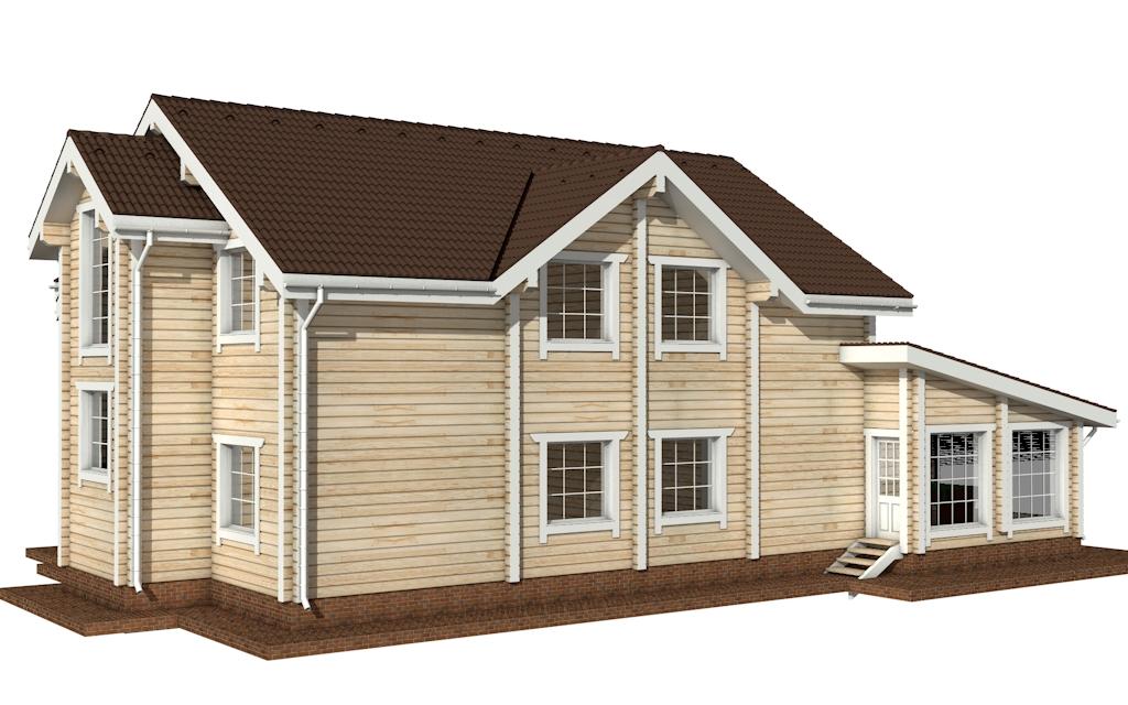 Фото #3: деревянный дом ПДБ-24 из клееного бруса купить за 14757000 (цена «Под ключ»)