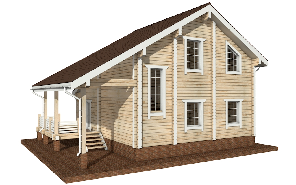 Фото #5: деревянный дом ПДБ-25 из клееного бруса купить за 9255000 (цена «Под ключ»)
