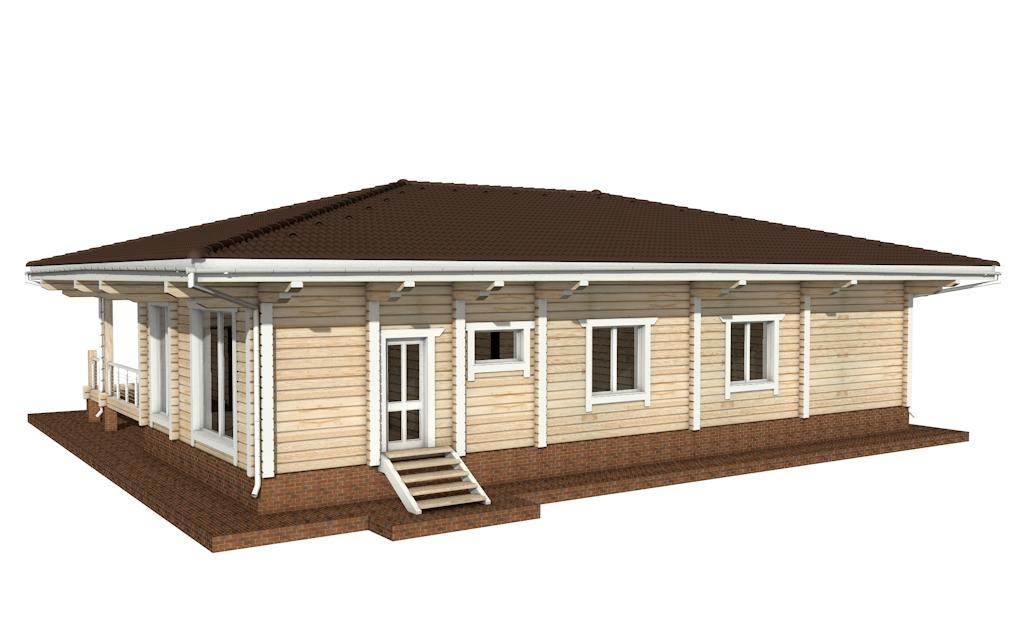 Фото #4: деревянный дом ПДБ-26 из клееного бруса купить за 10000000 (цена «Под ключ»)