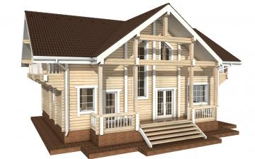 Фото #3: деревянный дом ПДБ-29 из клееного бруса купить за 12475000 (цена «Под ключ»)
