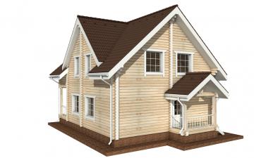 Фото #6: деревянный дом ПДБ-4 из клееного бруса купить за 10471000 (цена «Под ключ»)
