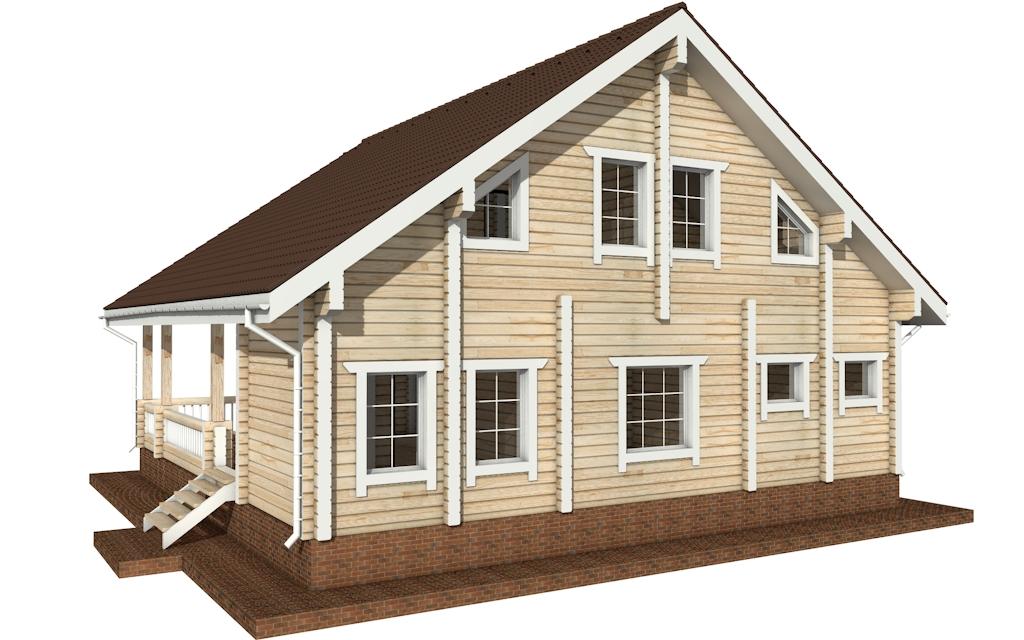 Фото #5: деревянный дом ПДБ-30 из клееного бруса купить за 10828000 (цена «Под ключ»)