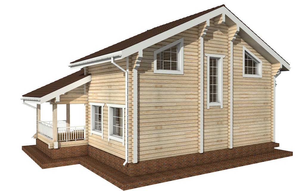 Фото #3: деревянный дом ПДБ-31 из клееного бруса купить за 10892000 (цена «Под ключ»)