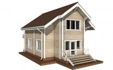 Фото #3: деревянный дом ПДБ-32 из клееного бруса купить за 6195000 (цена «Под ключ»)