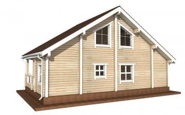 Фото #6: деревянный дом ПДБ-1 из клееного бруса купить за 9637000 (цена «Под ключ»)
