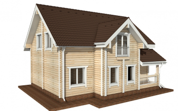 Фото #6: деревянный дом ПДБ-6 из клееного бруса купить за 10588000 (цена «Под ключ»)