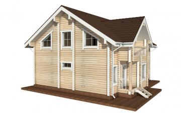 Фото #3: деревянный дом ПДБ-8 из клееного бруса купить за 11035000 (цена «Под ключ»)