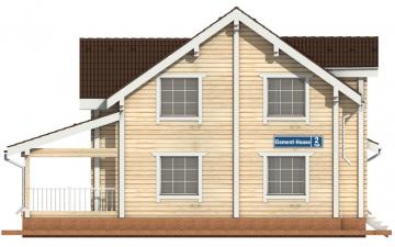 Фото #7: деревянный дом ПДБ-2 из клееного бруса купить за 11081000 (цена «Под ключ»)