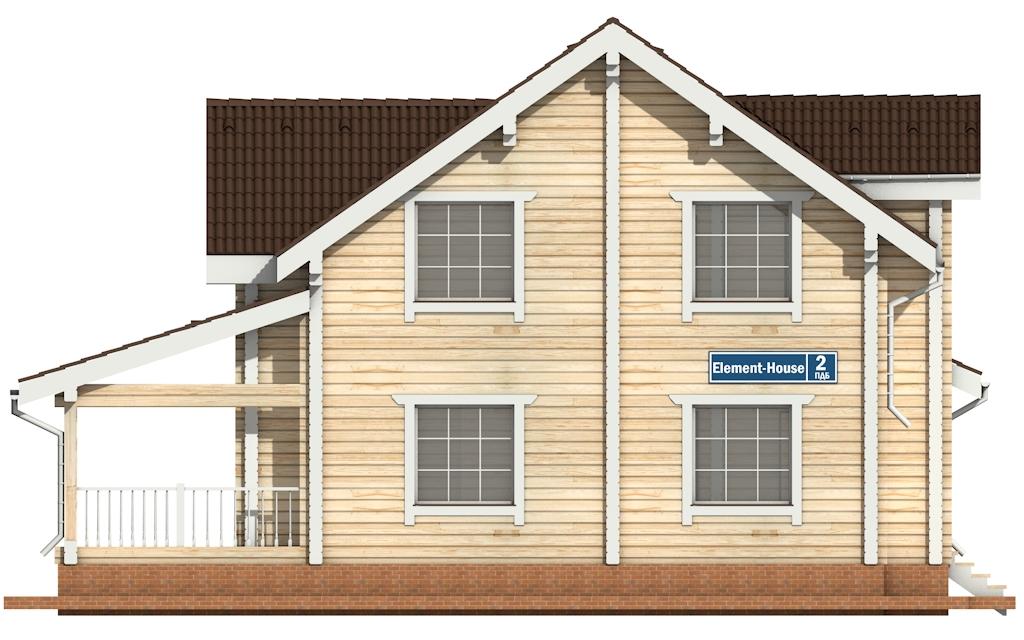 Фото #6: деревянный дом ПДБ-2 из клееного бруса купить за 11081000 (цена «Под ключ»)