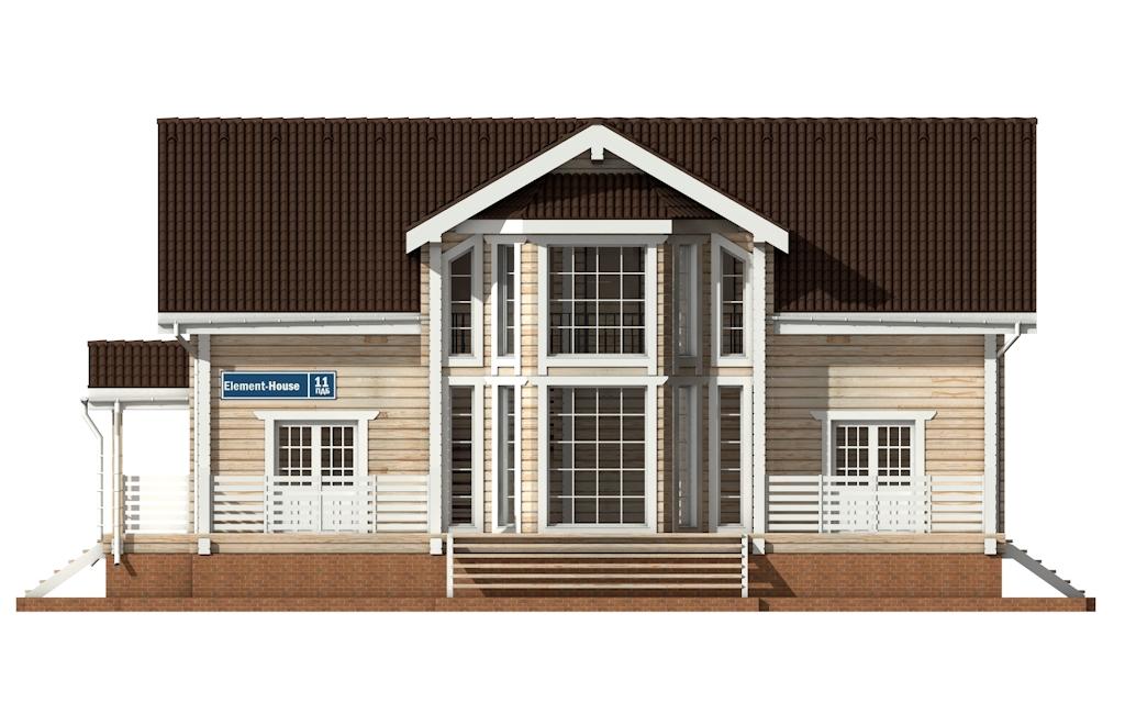 Фото #6: деревянный дом ПДБ-11 из клееного бруса купить за 11765000 (цена «Под ключ»)