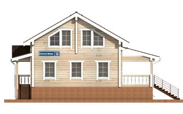 Фото #7: деревянный дом ПДБ-12 из клееного бруса купить за 6294000 (цена «Под ключ»)