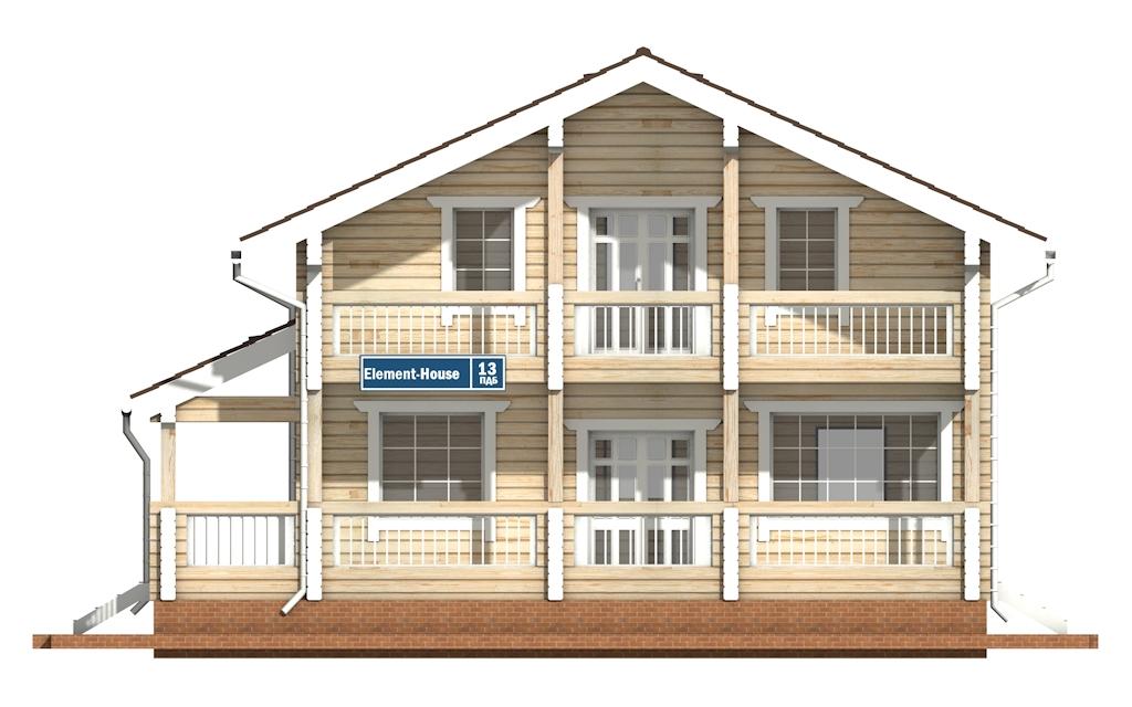 Фото #6: деревянный дом ПДБ-13 из клееного бруса купить за 8773000 (цена «Под ключ»)