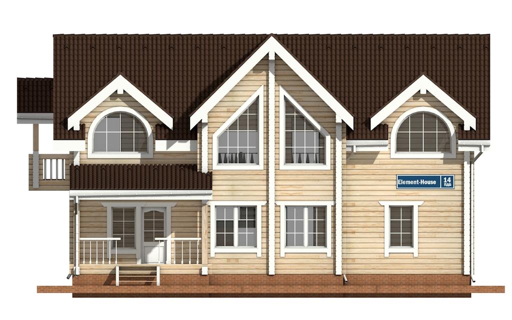 Фото #6: деревянный дом ПДБ-14 из клееного бруса купить за 13633000 (цена «Под ключ»)