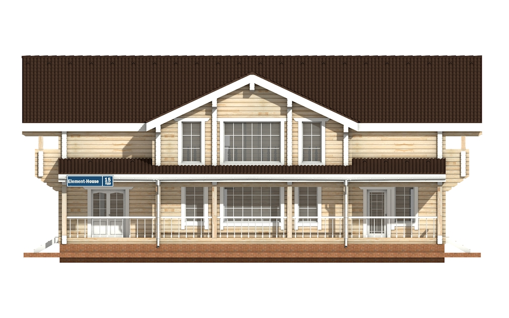Фото #6: деревянный дом ПДБ-15 из клееного бруса купить за 17296000 (цена «Под ключ»)
