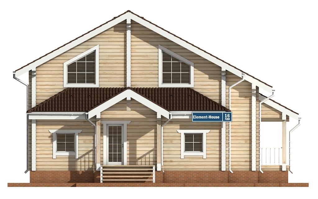 Фото #6: деревянный дом ПДБ-16 из клееного бруса купить за 12169000 (цена «Под ключ»)