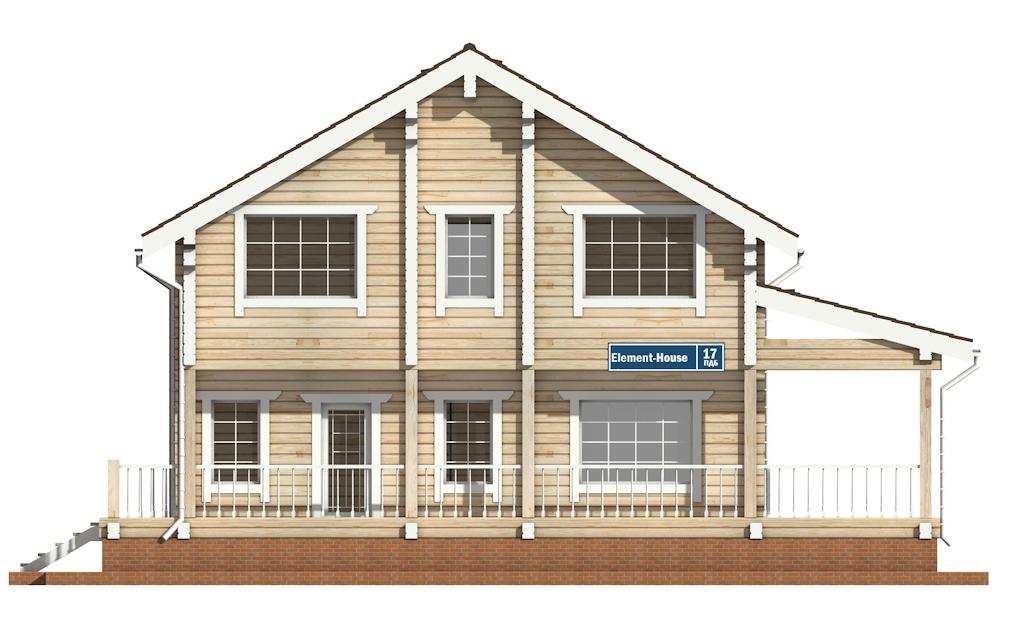 Фото #6: деревянный дом ПДБ-17 из клееного бруса купить за 10487000 (цена «Под ключ»)