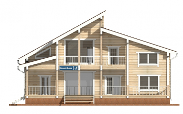 Фото #7: деревянный дом ПДБ-18 из клееного бруса купить за 15318000 (цена «Под ключ»)