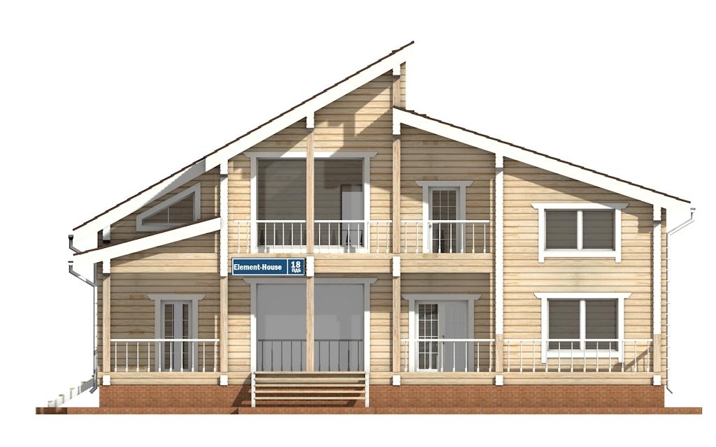 Фото #6: деревянный дом ПДБ-18 из клееного бруса купить за 15318000 (цена «Под ключ»)